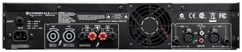 Crown XLS 1000 Power Amp - 02 (rear).jpg